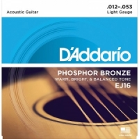 Daddario EJ16 Phosphor Bronze, Light, 12-53